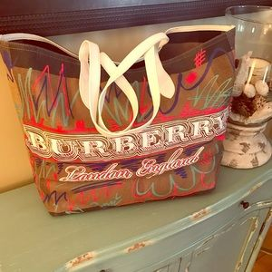Burberry Doodle Reversible XL Tote